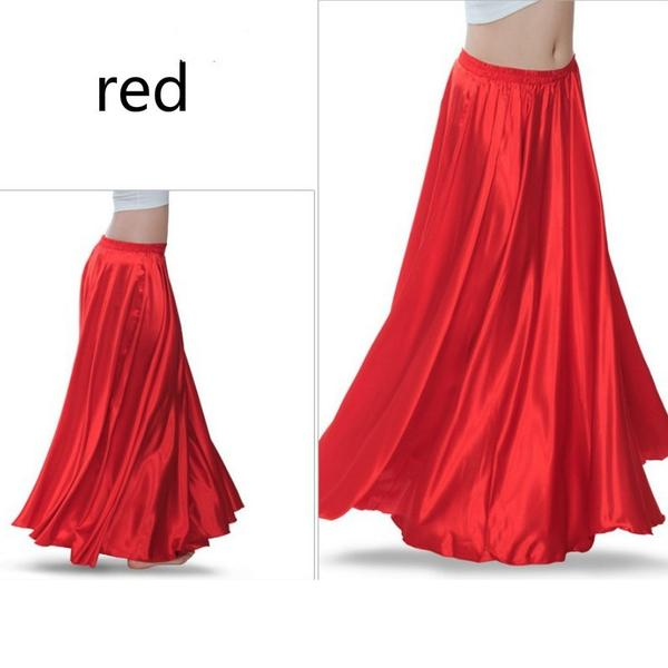 Red Women Contemporary Dance Skirt