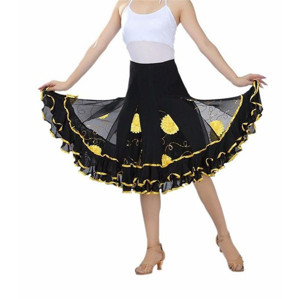 Yellow ballroom skirts