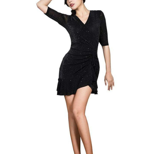 A-Line Mini Latin Dance Dress