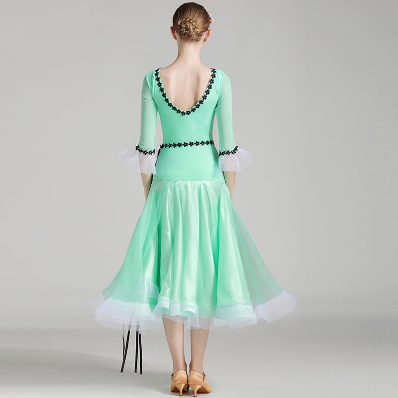 A-Line Long Ballroom Dress with Belt