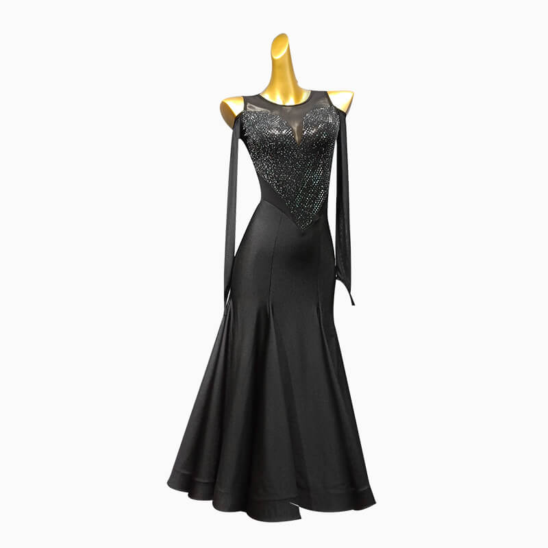 Ball Gown Long Ballroom Dress with Sequins
