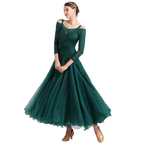 Ball Gown Long Ballroom Dress