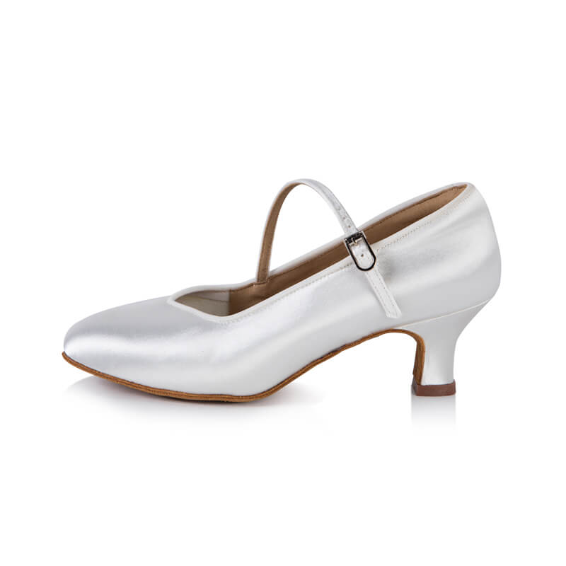 Closed Toe Buckle Fastening Ballroom Shoes 2.2""