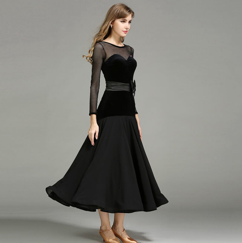 A-Line Long Ballroom Dress with Bows
