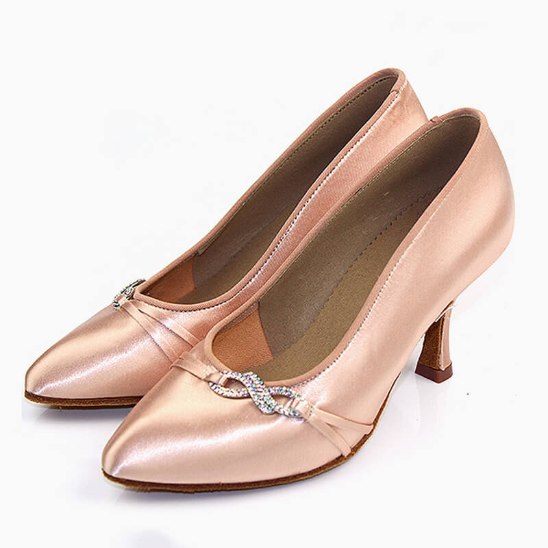 beige ballroom shoes 2