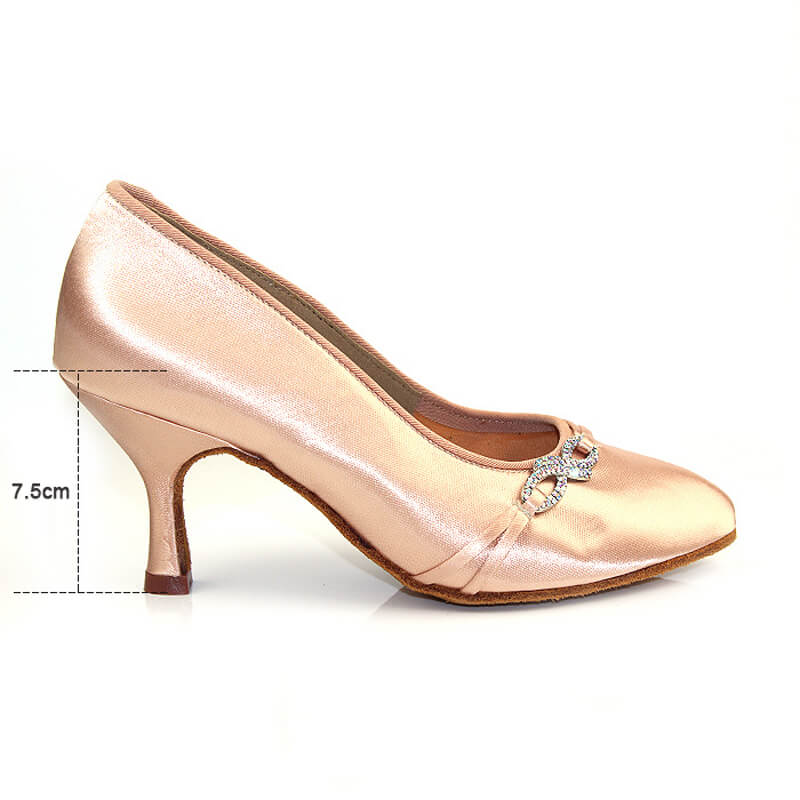 beige ballroom shoes 6