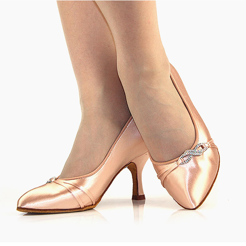 beige ballroom shoes