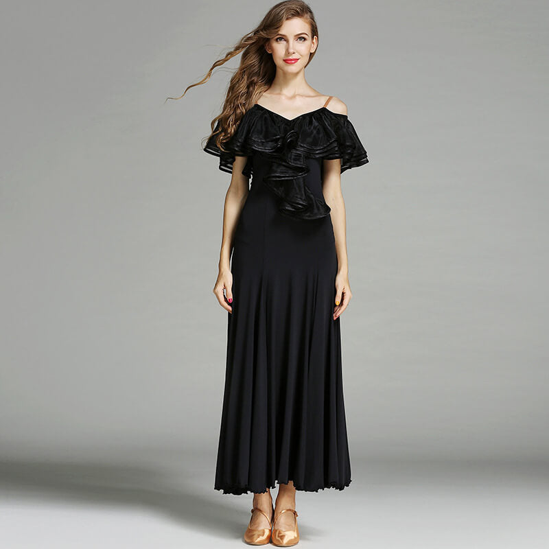 black ballroom dance dress 1