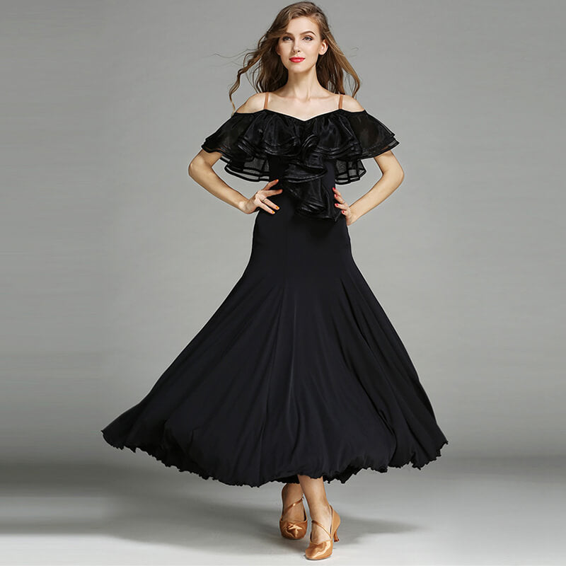 black ballroom dance dress 2