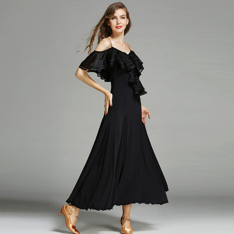 black ballroom dance dress 3