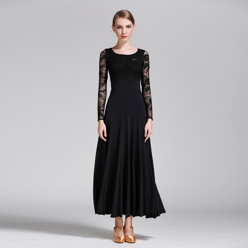 Empire Long Ballroom Dress with Lace
