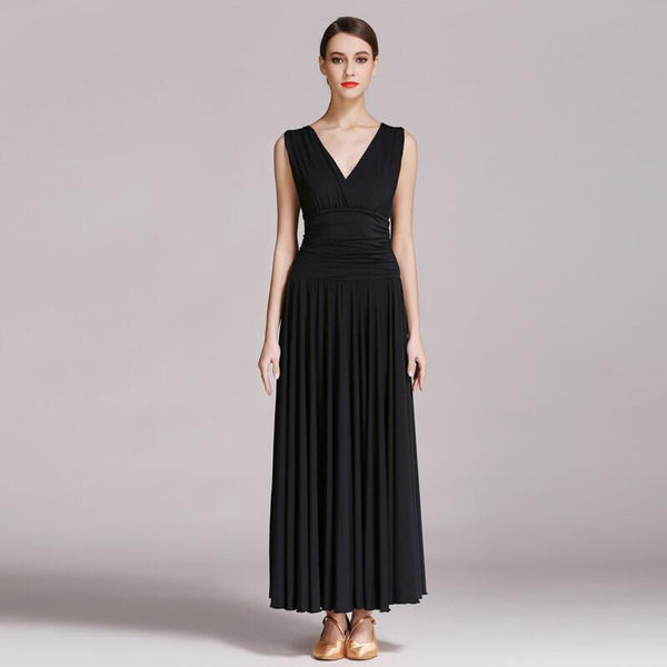 black ballroom dance dress