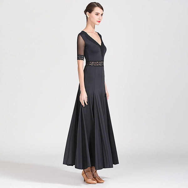 black ballroom dance dresses