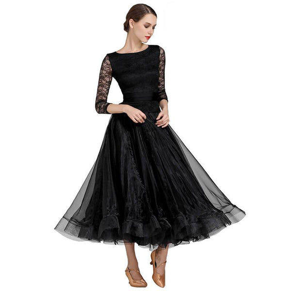 black ballroom dress