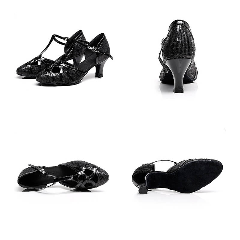 black ballroom shoes