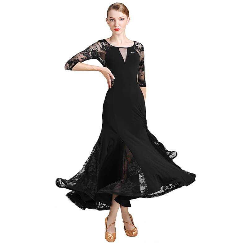 black ballroomdance dress 1