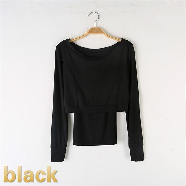 black contemporary dance tops