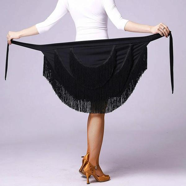 black latin skirt