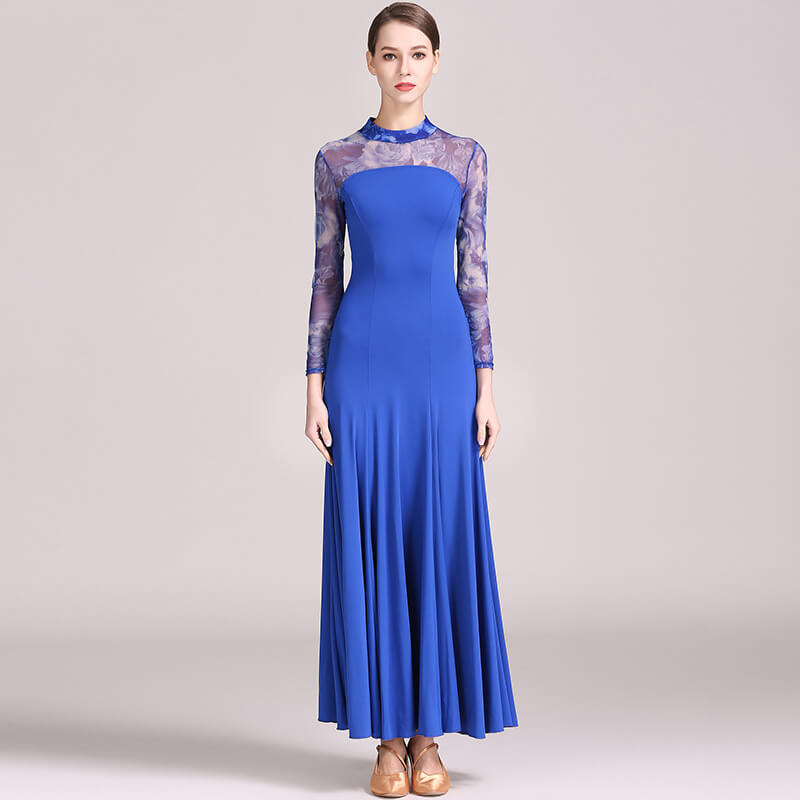 blue ballroom dress