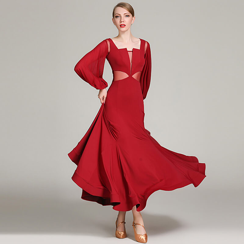 burgundy ballroom dress 2