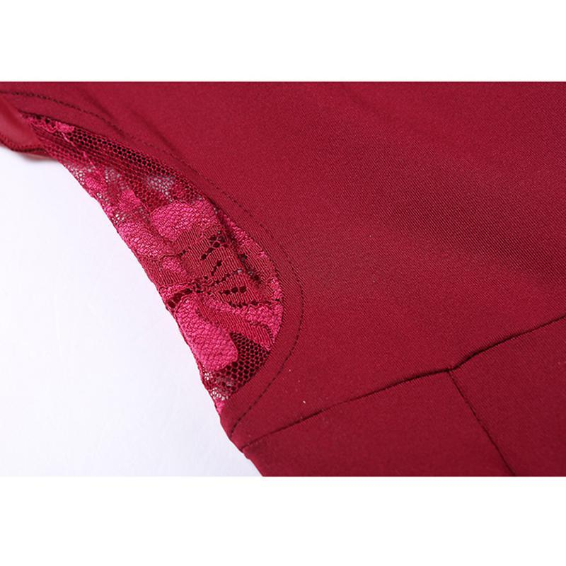 burgundy ballroom dress detail 4