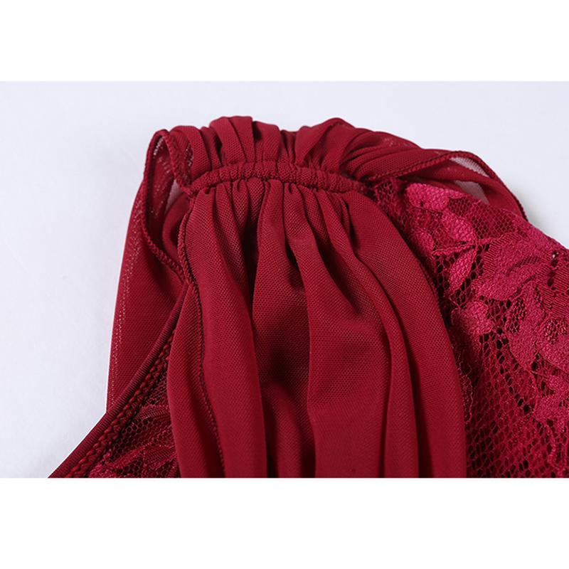burgundy ballroom dress detail 6