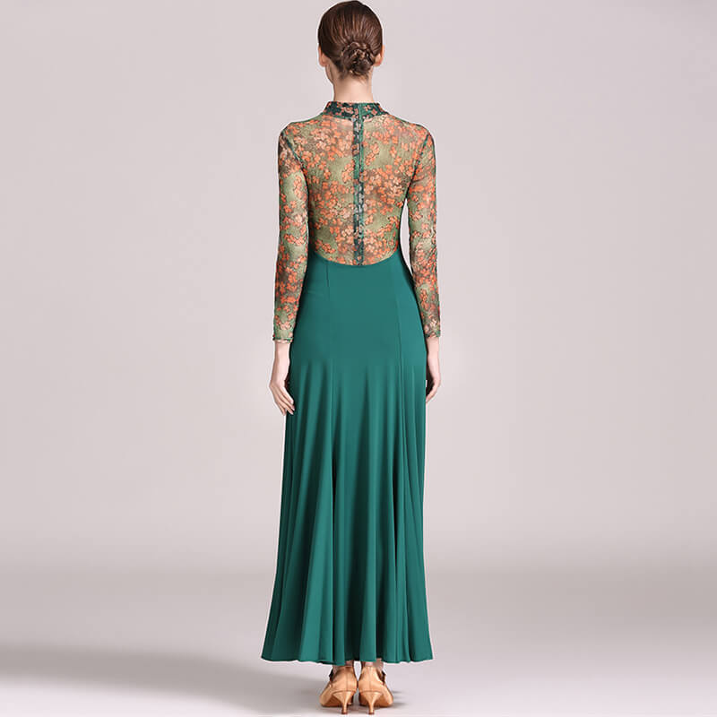 green ballroom dance dress 1