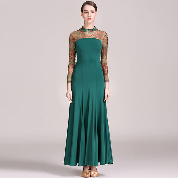 green ballroom dance dress (2)