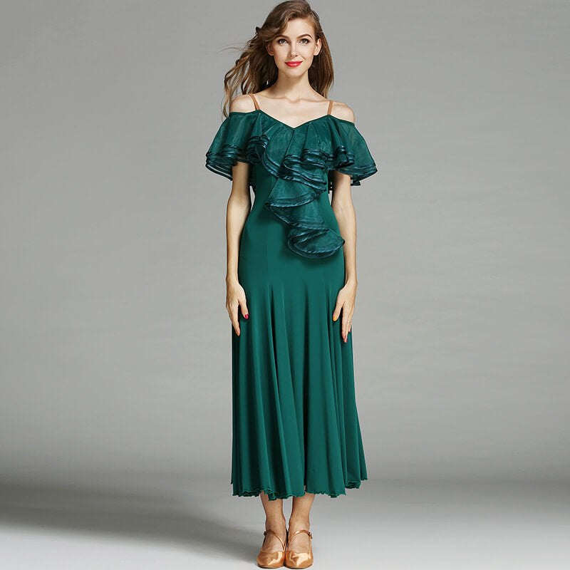 green ballroom dance dress 2