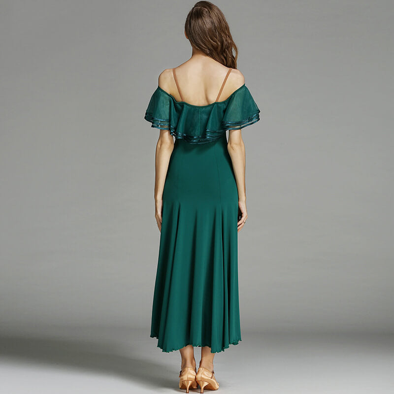 green ballroom dance dress 3