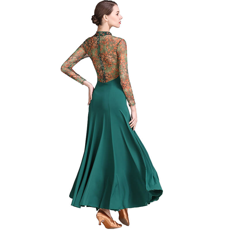 green ballroom dance dress