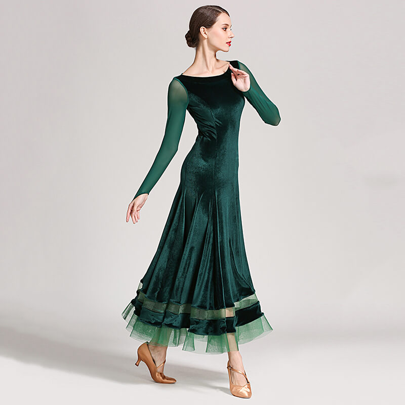 green ballroom dress 2