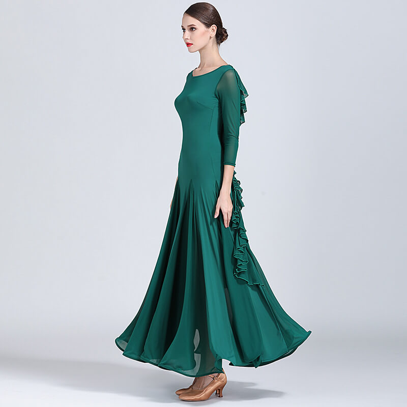 green ballroom dress 3