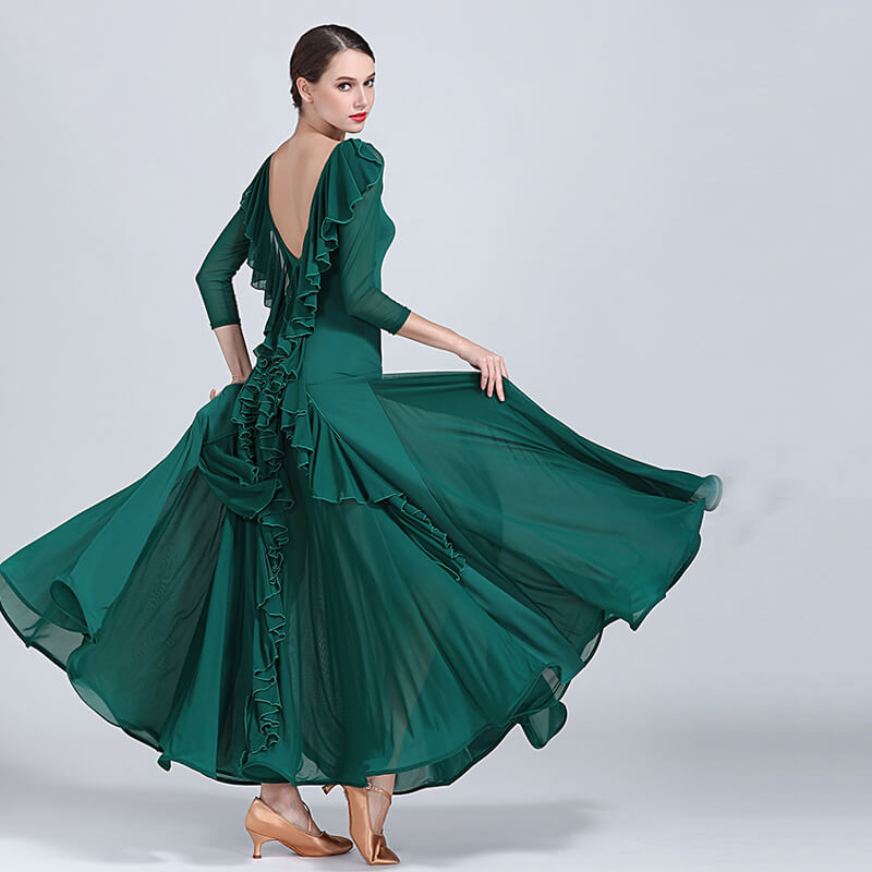 green ballroom dress 4