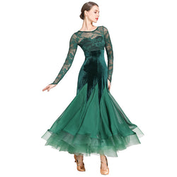 green ballroom dress