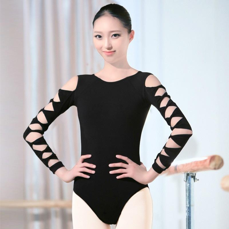 hollow sleeves ballet leotard