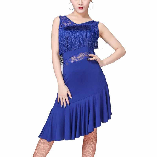 latin dress-blue