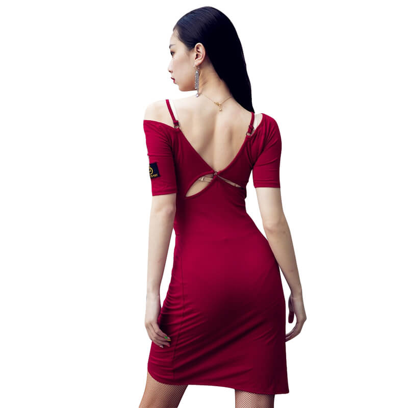 Asymmetric Short Latin Dress