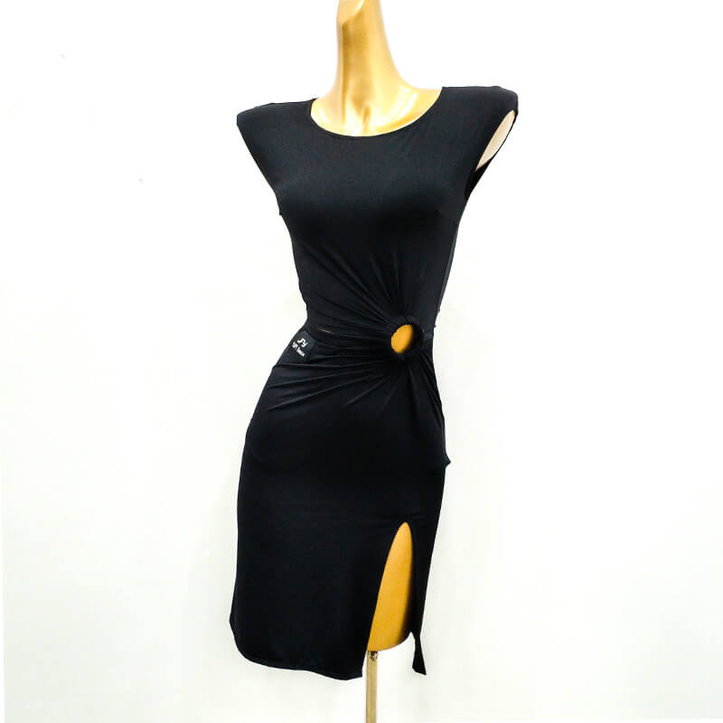 Asymmetric Short Latin Dress with Cutouts