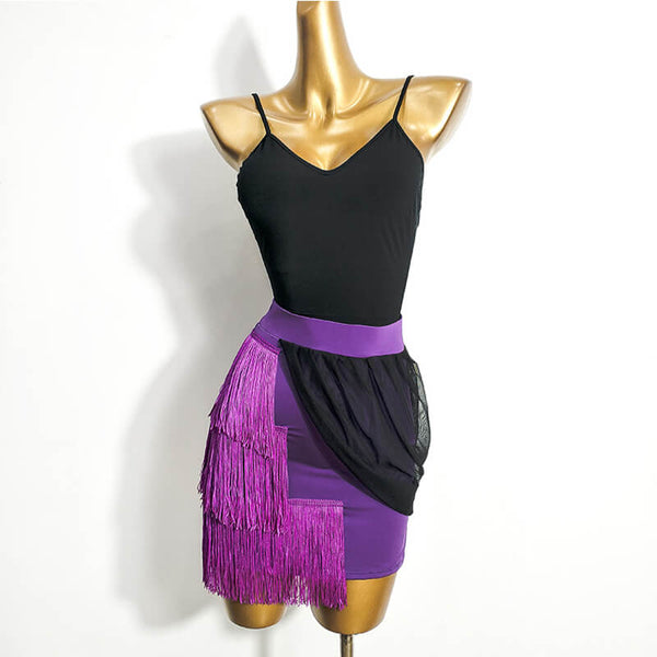 Funky Latin Skirt with Tassels