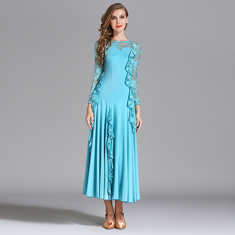 light blue ballroom dress