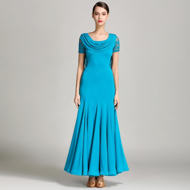 peacock blue ballroom dance dress