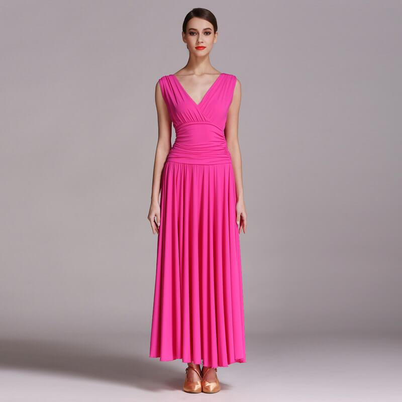 pink ballroom dance dress