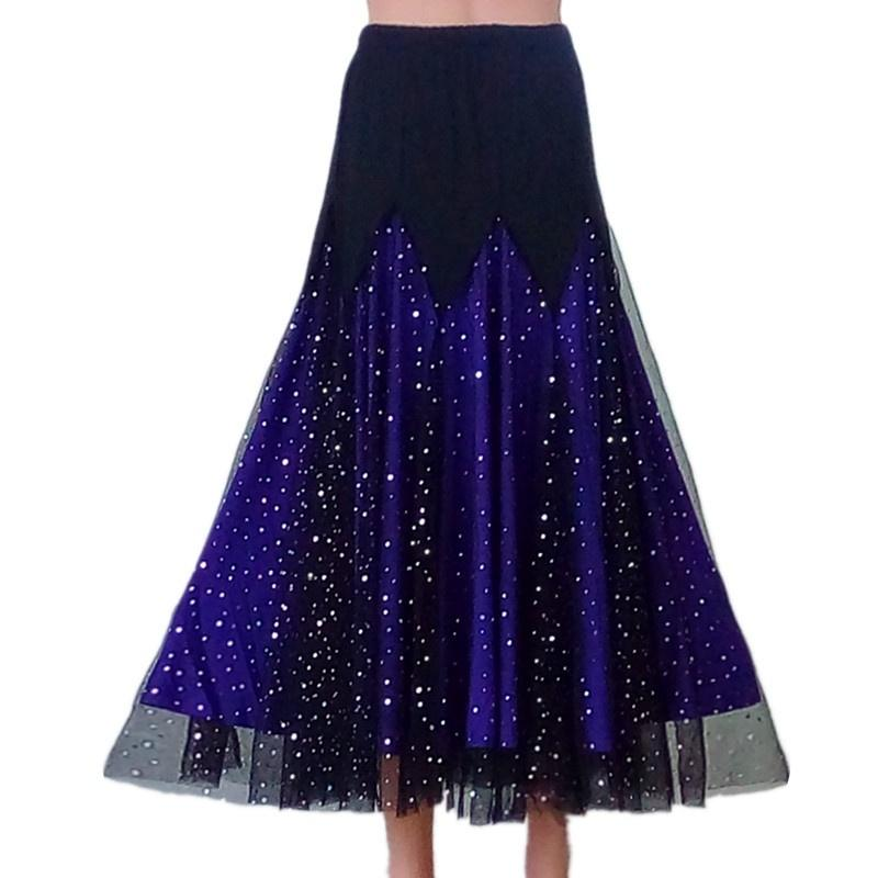 purple ballroom dance skirt