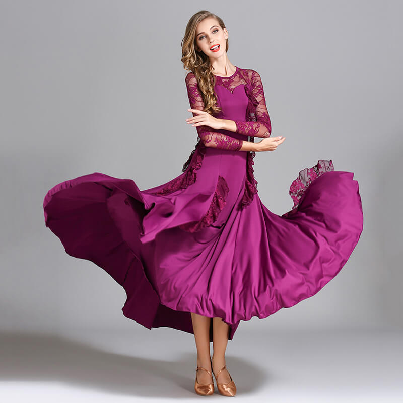 purple ballroom dress
