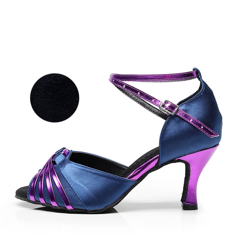 purple ballroom shoes 7.5cm heel