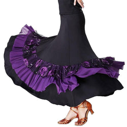 purple ballroom skirt