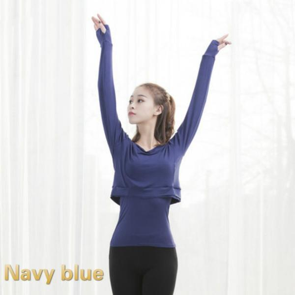 navy contemporary dance tops