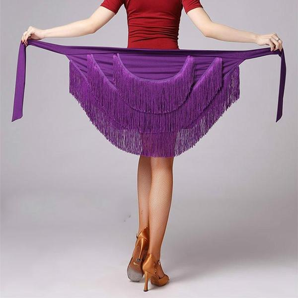 purple latin skirt