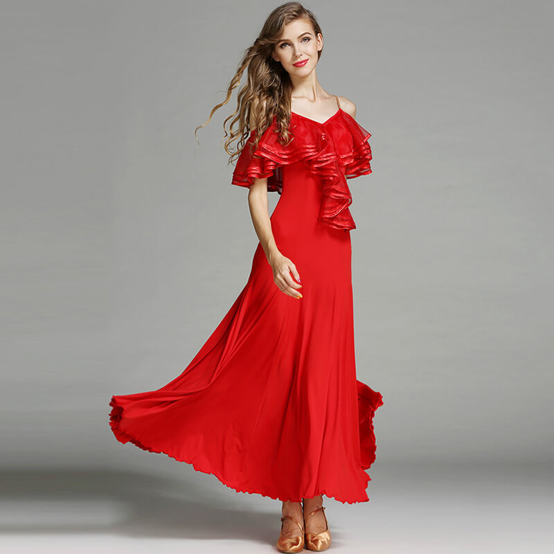 red ballroom dance dress 3